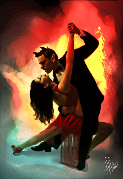 Dance with devil sketch by AnnyALice